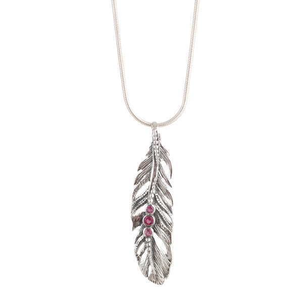 Freedom Feather Mani Necklace - Tourmaline
