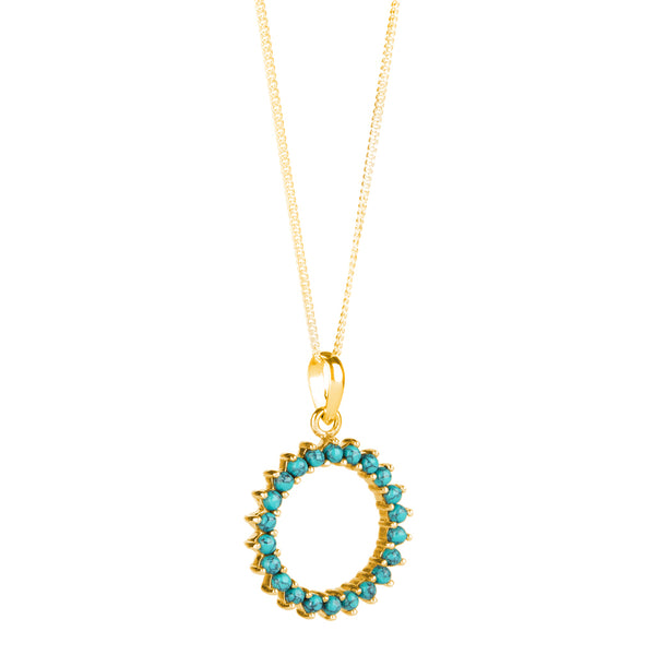 Halo Radiance Necklace - Gold