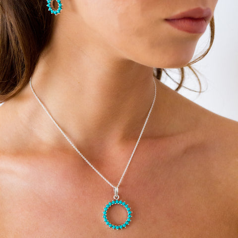 Halo Radiance Necklace and Earring Set