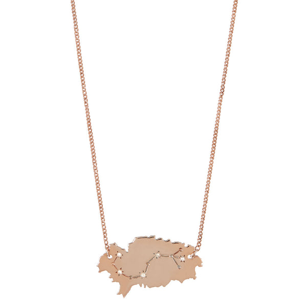 Ibiza Constellation Necklace - Rose Gold