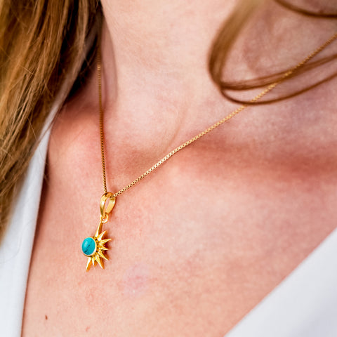 TOTAL ECLIPSE TURQUOISE GOLD NECKLACE