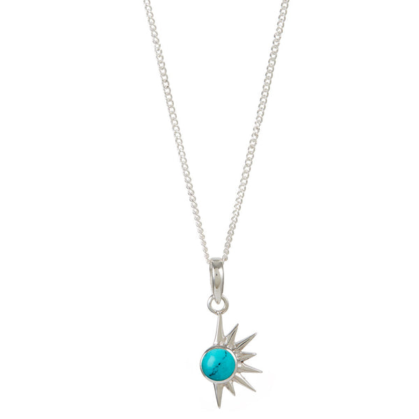 TOTAL ECLIPSE TURQUOISE SILVER NECKLACE