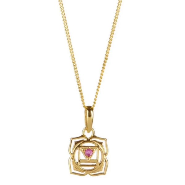 ROOT CHAKRA NECKLACE - GOLD