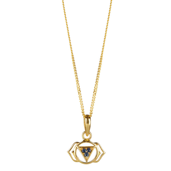 THIRD EYE CHAKRA NECKLACE GOLD