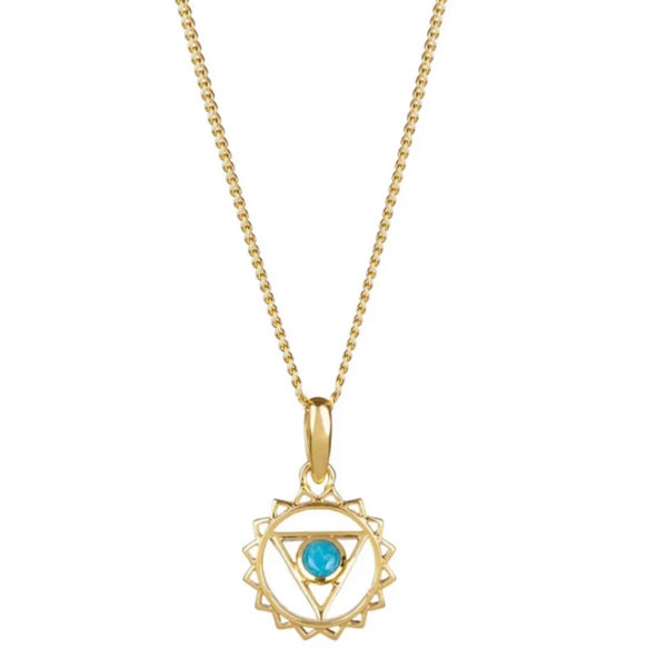 THROAT CHAKRA NECKLACE - GOLD