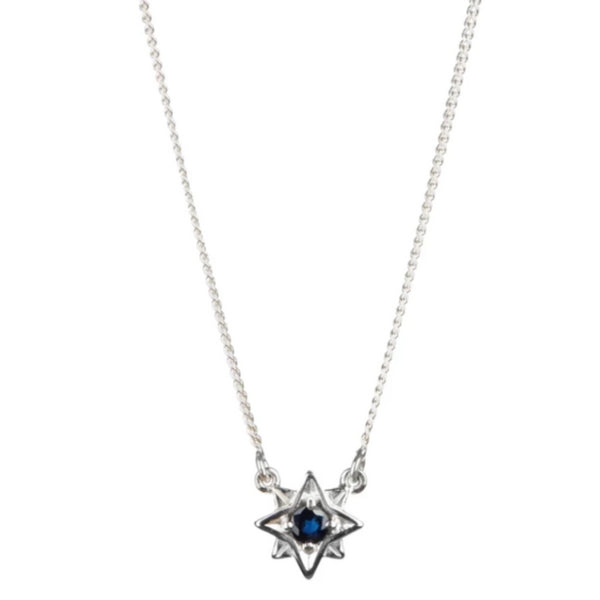 Guiding North Star Necklace - Sapphire