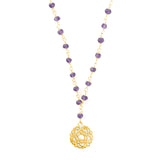 CROWN CHAKRA GEMSTONE NECKLACE GOLD