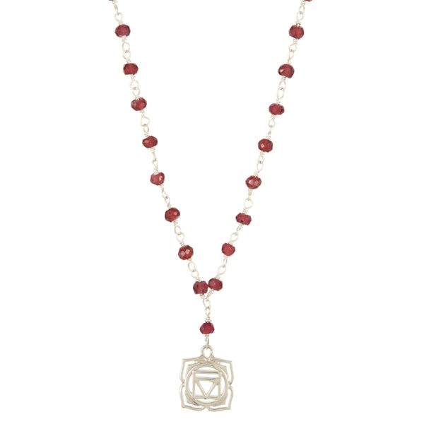 ROOT CHAKRA GEMSTONE NECKLACE