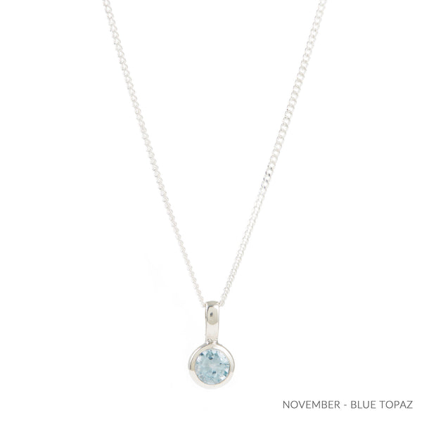 NOVEMBER BLUE TOPAZ BIRTHSTONE CHARM