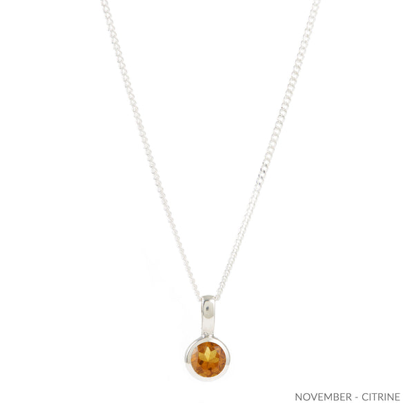 NOVEMBER CITRINE BIRTHSTONE CHARM
