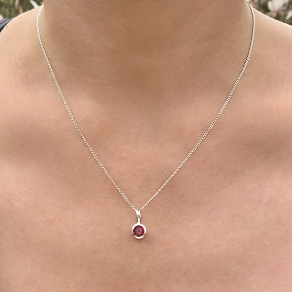 Garnet - January Birthstone Pendant