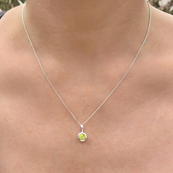 Peridot - August Birthstone Pendant