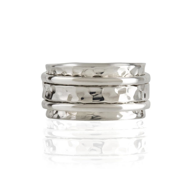 Karma Silver Spinning Ring