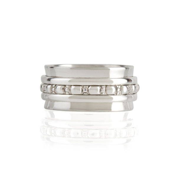Maharani Manifest Silver Spinning Ring