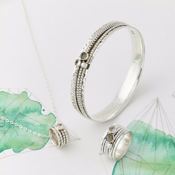 Ethereal Silver Spinning Set