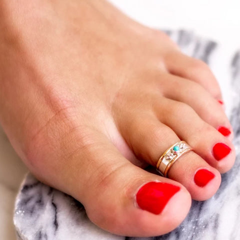 Turquoise Toe ring