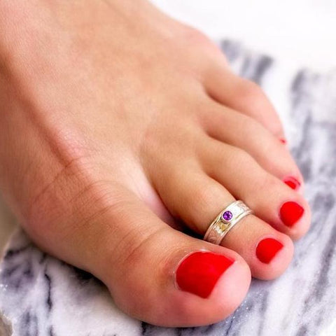 Gemstone Midi Ring or Toe Ring