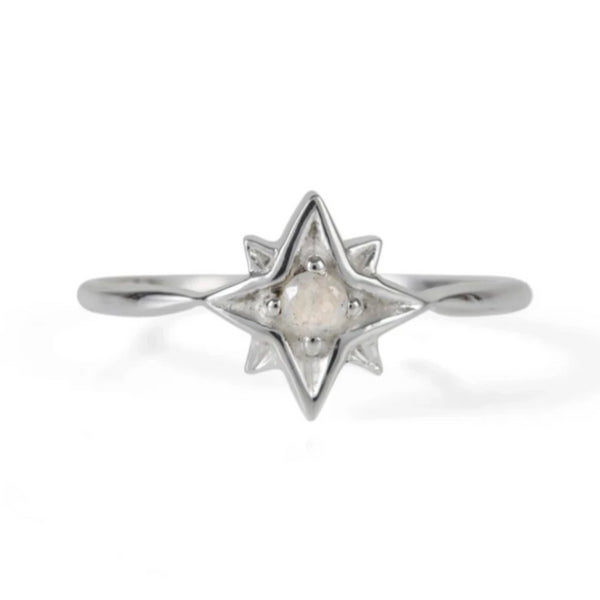 Guiding North Star Ring - Moonstone
