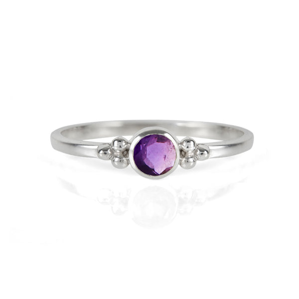Holi Jewel Stacking Ring Amethyst