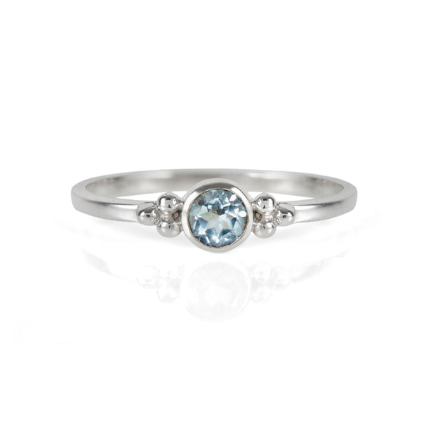 Holi Jewel Stacking Ring - Blue Topaz