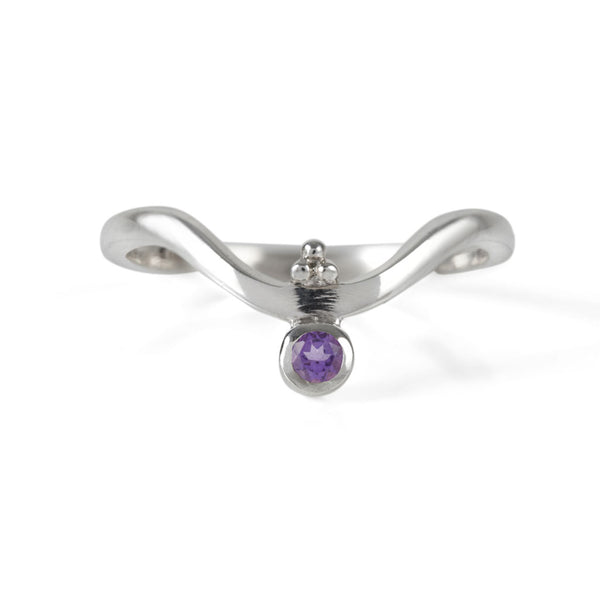 Holi Jewel V Stacking Ring - Amethyst