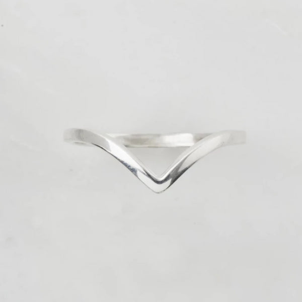 Rani Silver Wishbone Stacking Ring