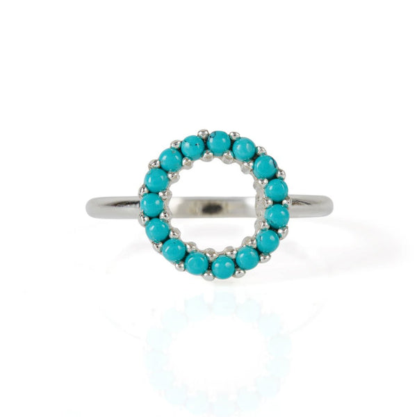 Halo Radiance Turquoise Pave Ring