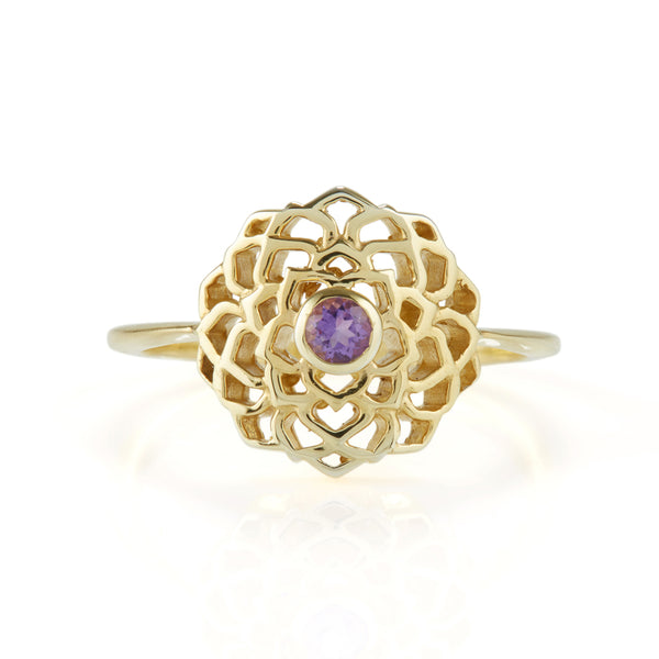 CROWN CHAKRA RING GOLD