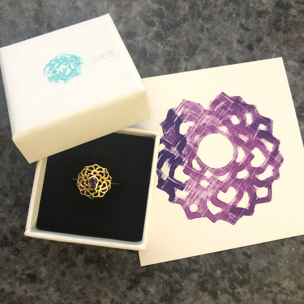 CROWN CHAKRA RING - GOLD