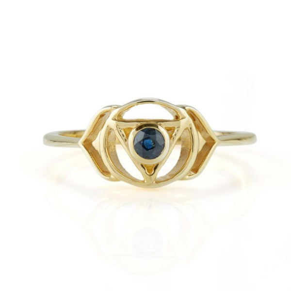 THIRD EYE CHAKRA RING GOLD