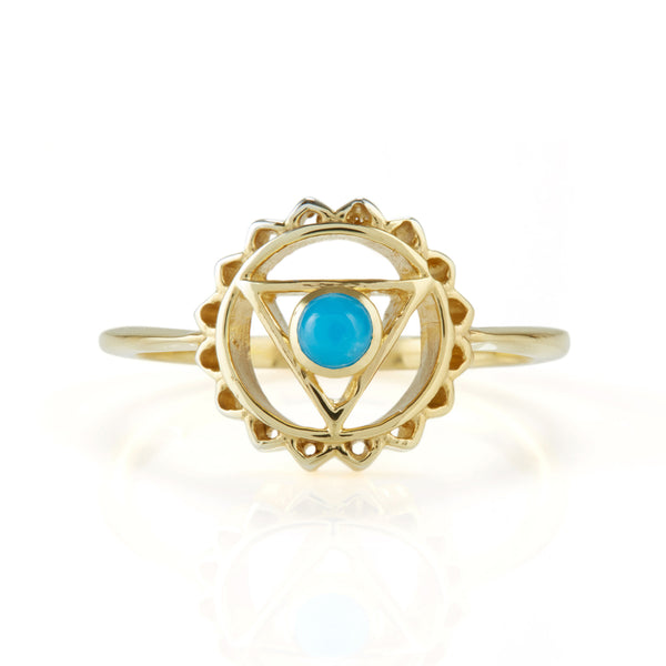 THROAT CHAKRA RING GOLD