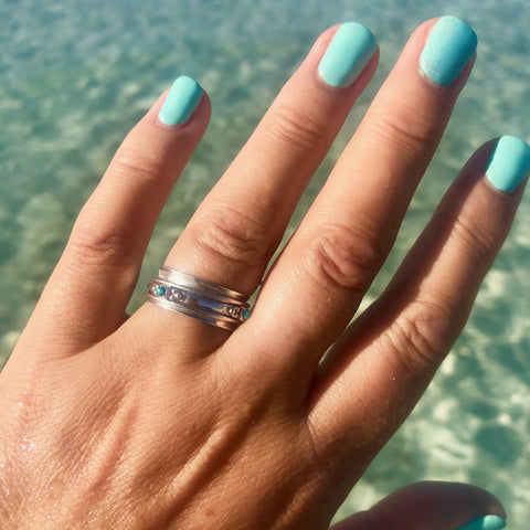 RAJALITA LOVE TURQUOISE SPINNING RING