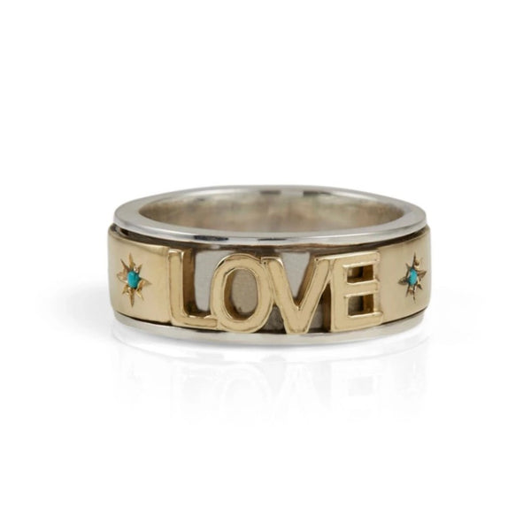 LOVE ROCKS SPINNING RING