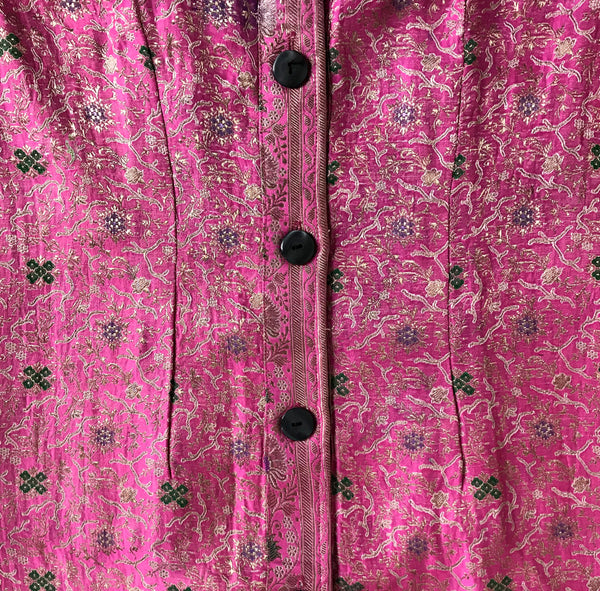 Recycled Brocade Sari Long Jacket