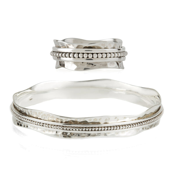 AURA HALO RING AND BANGLE SET