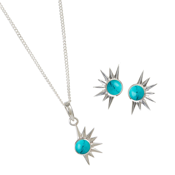 TOTAL ECLIPSE TURQUOISE NECKLACE & EARRING SET