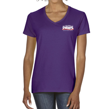 Load image into Gallery viewer, Golden PAWS Logo V-Neck (Dark Colors)