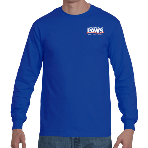 Golden PAWS Logo Long Sleeve T Shirt (Dark Colors)