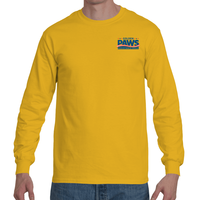 Golden PAWS Logo Long Sleeve T Shirt (Light Colors)
