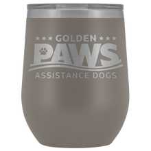 Load image into Gallery viewer, Golden PAWS 12oz Wine Tumbler