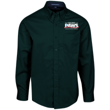 Load image into Gallery viewer, Golden PAWS Embroidered Logo Men's Button-Down (Dark Colors)