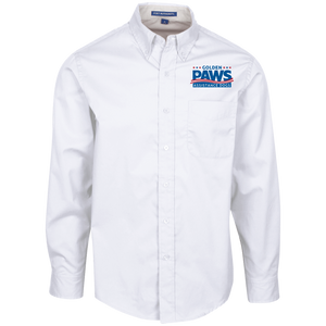Golden PAWS Embroidered Logo Men's Button-Down (Light Colors)