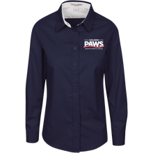 Load image into Gallery viewer, Golden PAWS Embroidered Logo Ladies Button-Down (Dark Colors)
