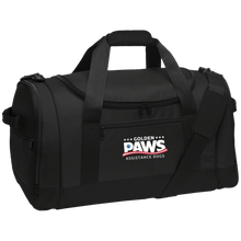 Load image into Gallery viewer, Golden PAWS Embroidered Logo Sports/Travel Duffel