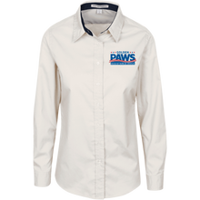 Load image into Gallery viewer, Golden PAWS Embroidered Logo Ladies Button-Down (Light Colors)