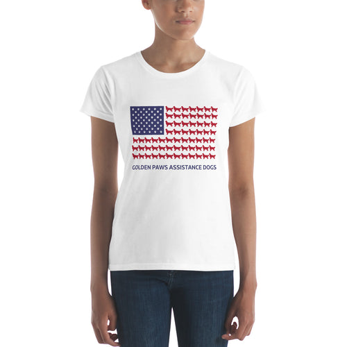 Golden PAWS Treever Flag T Shirt
