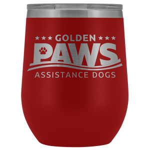 Golden PAWS 12oz Wine Tumbler