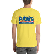 Load image into Gallery viewer, Golden PAWS Dorm Staff Logo T-Shirt - Light Colors