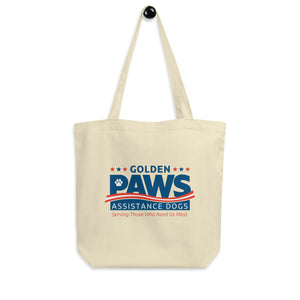 Golden PAWS Canvas Tote