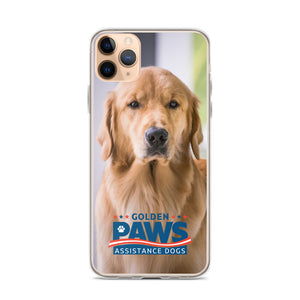 Golden PAWS Portrait iPhone Case